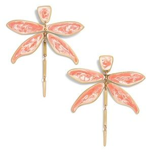 NWT Blush Articulated Dragonfly Earrings
